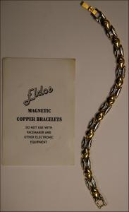 Eldos Magnetic Copper Bracelet-silver & gold