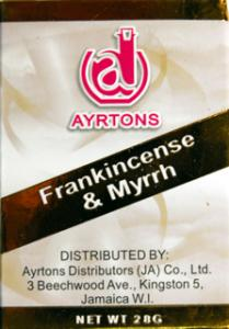 Arytons Frankincense and Myrrh