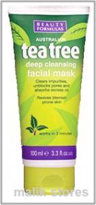 Beauty Formulas Tea Tree Deep Cleansing Facial Mask