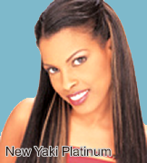 Feme Sensationnel Human Hair: New Yaki Platinum Weave 10