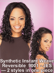 Feme Sensationnel Synthetic Hair: Instant Weave Reversible 9001 Jess