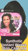 Feme Sensationnel Synthetic Hair: Instant Weave 7030 CAITLYN