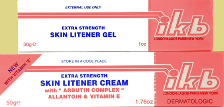 ikb Extra Strength Skin Litener Gel and Cream