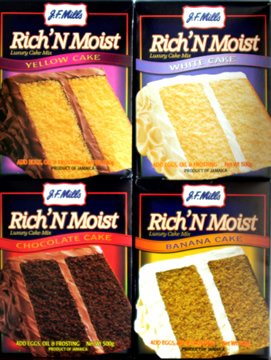 J F Mills Rich'n Moist Luxury Cake Mix