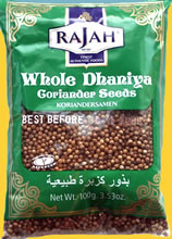 Rajah Dhaniya Whole Coriander Seeds