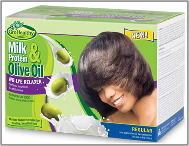 Sof n'Free n'Pretty GroHealthy Milk Protein Olive Oil No-Lye Relaxer