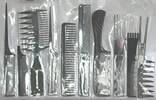 11 Piece Black Comb Set