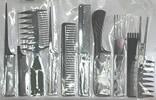 11 Piece Black Comb Set