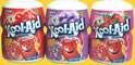 Kool Aid sugar-sweetened soft fruit drink mix